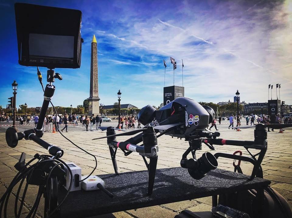 """Photo tournage """"laissez vous guider"""" - Drone DJI Inspire 2 - Paris Place de la Concorde"""
